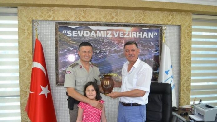Yüzbaşı Sarıtarla'dan Başkan Duymuş'a Veda Ziyareti