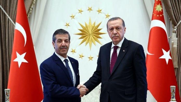 Cumhurbaşkanı Erdoğan, KKTC Dışişleri Bakanını Kabul Etti