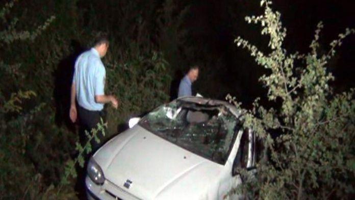 Kontrolden çıkan araç 50 metrelik uçurumdan düştü: 2 yaralı