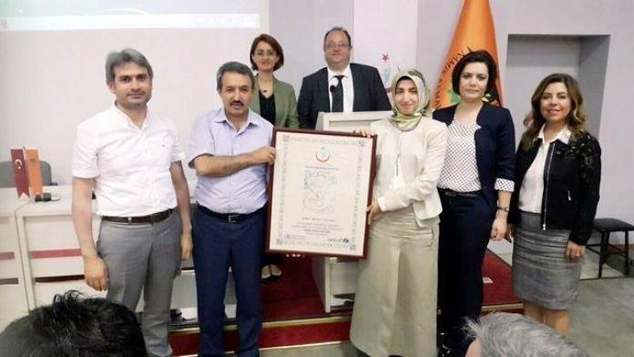Saray Devlet Hastanesi 'Bebek Dostu Hastane' Unvanı Aldı