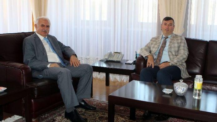 Başsavcı Çiçekli'den Rektör Koçak'a Veda Ziyareti