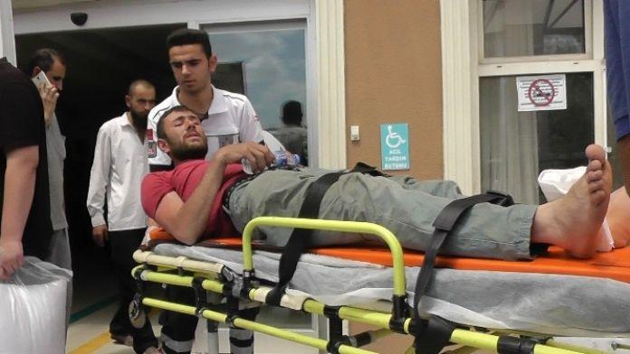 Kulu'da İnşaattan Düşen İşçi Hastaneye Kaldırıldı