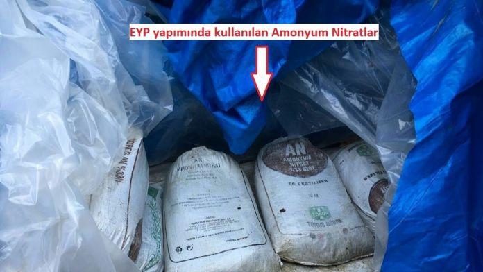 Diyarbakır'da 9 ton amonyum nitrat ele geçirildi