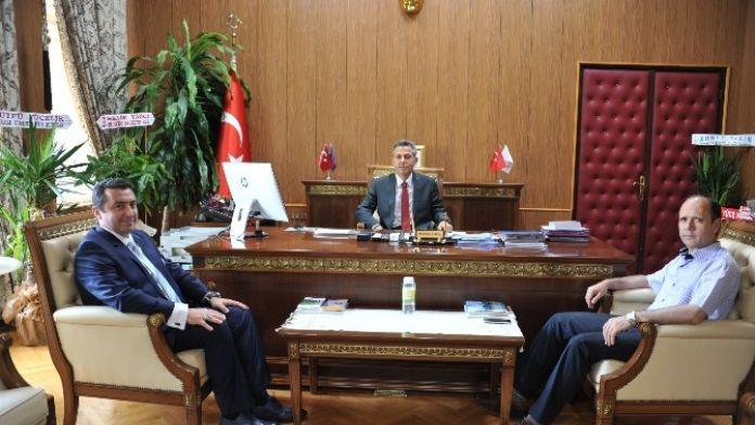 Başkan Bakıcı, Vali Elban'ı Ziyaret Etti
