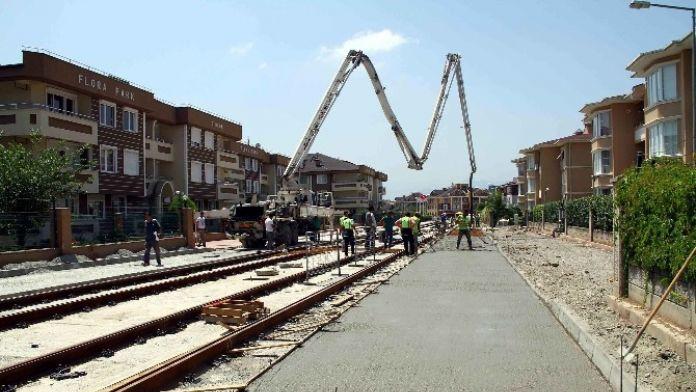 Tramvay Hattının Çalışmaları Hızla İlerliyor