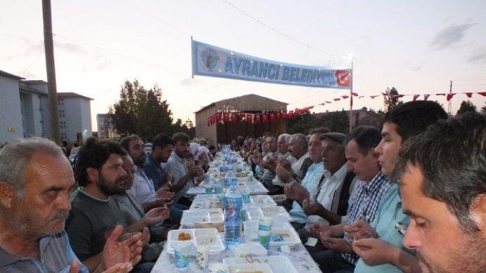 Ayrancı Belediyesi'nden İlçe Halkına İftar Yemeği