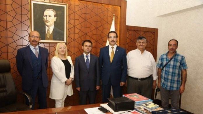 Gazeteciler Cemiyetinden Vali Aktaş'a Ziyaret