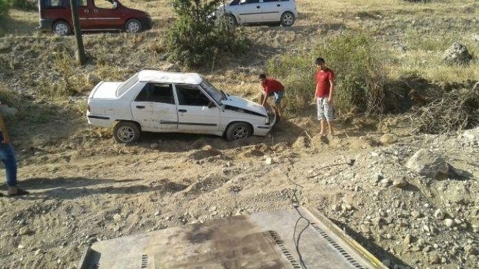 Gölbaşı'ında Otomobil Takla Attı: 1 Yaralı
