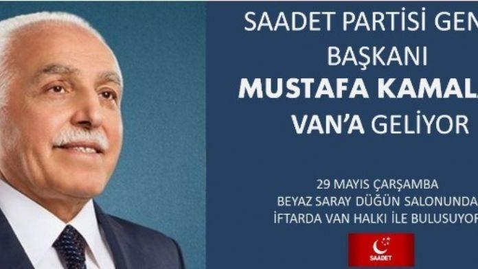 SP Genel Başkanı Kamalak Van'a Geliyor