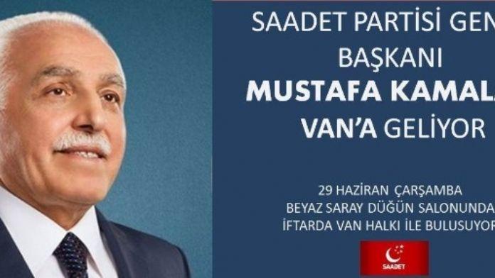 (Düzeltme) - SP Genel Başkanı Kamalak Van'a Geliyor