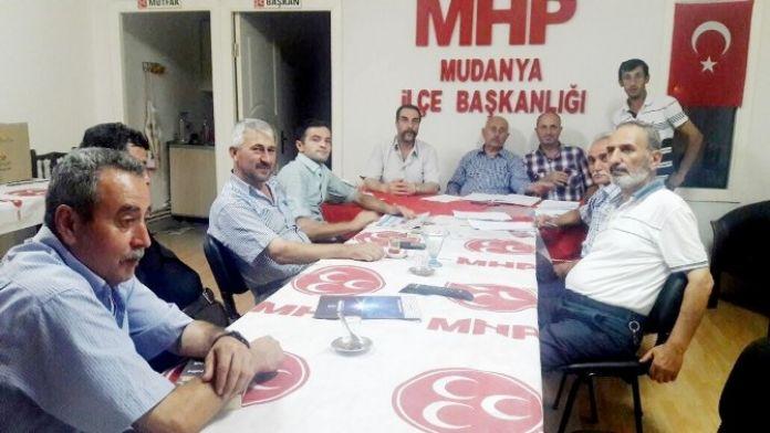 MHP Mudanya'da Yeni Yönetim Belli Oldu