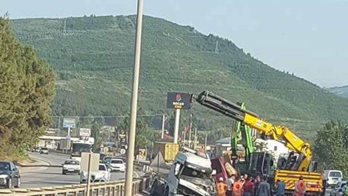 İstanbul Bursa karayolu kapandı