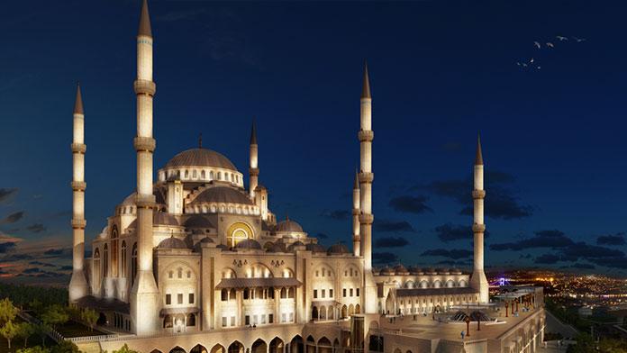 Çamlıca camii'nde ilk namaz, Kadir gecesinde kılınacak.
