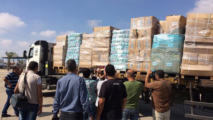 Gazze'ye yardım konvoyları İsrail gümrüğüne rağmen ulaşmaya başladı.
