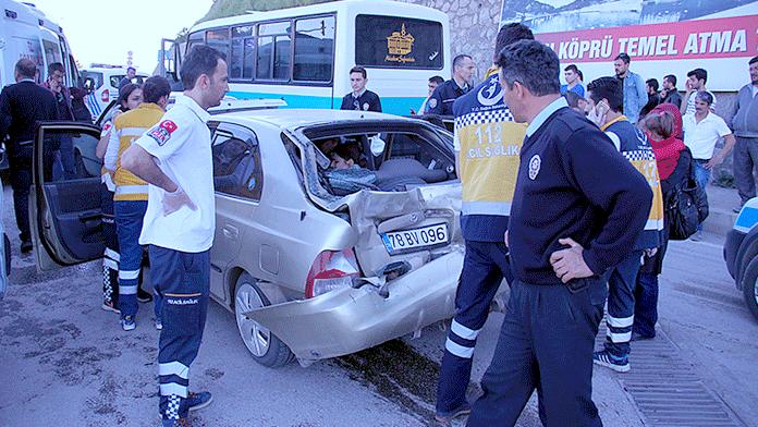 Karabük'te zincirleme kaza:10 yaralı