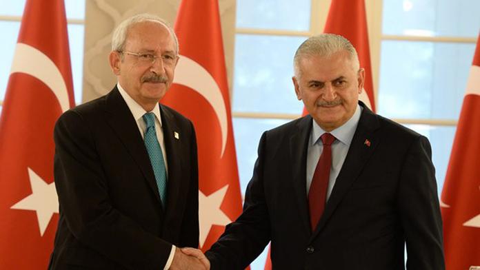 Yıldırım ve Kılıçdaroğlu, Çankaya'da Buluştu.
