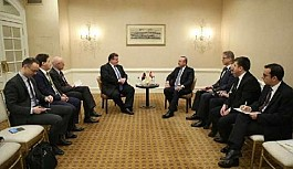 Bakan Çavuşoğlu, Litvanya Dışişleri Bakanı Linkevicius ile bir araya geldi