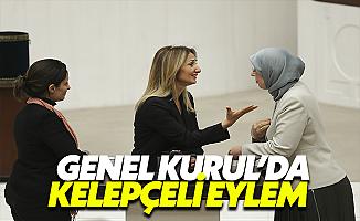Aylin Nazlıaka kendini Meclis Kürsüsüne Kelepçeledi