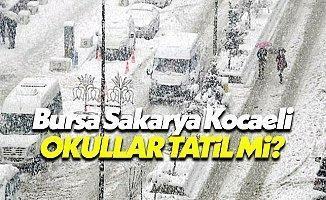 Bursa, Kocaeli ve Sakarya'da yarın 11 Ocak Çarşamba okullar tatil mi valilik son dakika