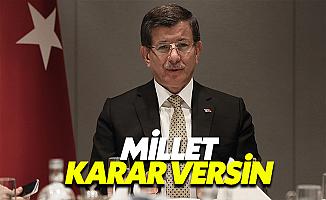 Davutoğlu Referandumu İşaret Etti