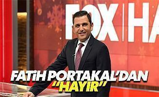 Fatih Portakal'dan canlı yayında referanduma 'Hayır'