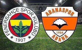 Fenerbahçe Adanaspor 2-2 Geniş Maç Özeti