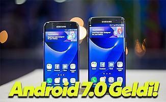 Galaxy S7 ve Galaxy S7 Edge Modeli Resmi Android 7.0 Nougat Güncellemesi Yayınlandı!