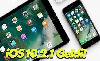 iOS 10.2.1 Güncellemesi Yayınlandı!