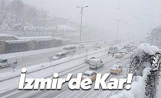 İzmir'de Kar Yağışı Başladı!