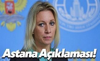 Rusya Dışişleri Bakanlığı Sözcüsü Mariya Zaharova'dan Yeni Açıklamalar!