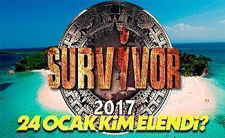 Survivor 2017 24 Ocak kim elendi? Survivor 2017 24 Ocak SMS sıralaması sonuçları Acunn