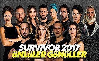 Survivor 2017 ünlüler gönüllüler kadrosu yarışmacıları tam isim listesi