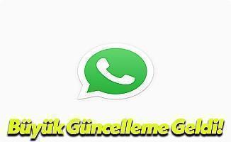 Whatsapp Büyük Güncellemesi Geldi!