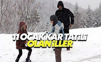 Son dakika yarın 11 Ocak Çarşamba kar tatili olan okullar valilik