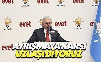 Ankara'da Konuşan Başbakan Uzlaşı Dedi