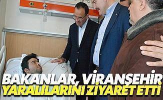 Bakanlar, Viranşehir'deki Saldırıda Yaralananları Ziyaret Etti