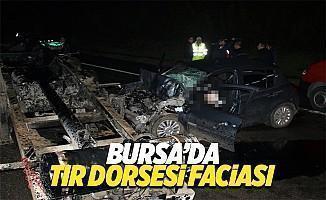 Bursa'da TIR faciası: 2 ölü