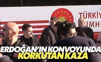 Cumhurbaşkanı Erdoğan'ın Konvoyunda Kaza!