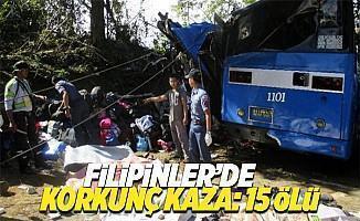 Filipinler'de öğrenci otobüsünde dehşet: 15 ölü