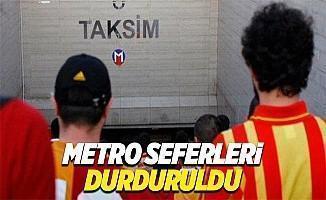 Galatasaray taraftarları yüzünden Şişli-Mecidiyeköy metrosu kapatıldı
