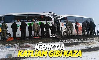 Iğdır'da iki yolcu otobüsü çarpıştı: 6 ölü