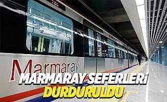 İstanbul son dakika Marmaray seferleri durduruldu mu ne zaman başlayacak