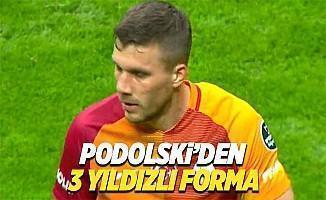 Lukas Podolski'den 3 yıldızlı forma