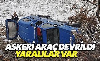 Muğla'da Askeri Araç Kaza Yaptı