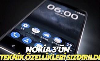 Nokia 3'ün Teknik Özellikleri Sızdırıldı
