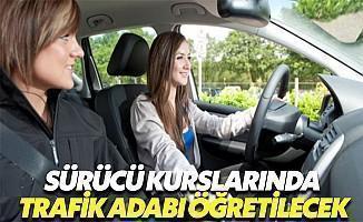 Sürücü Kurslarında Trafik Adabı Öğretilecek