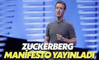 Zuckerberg Manifesto Yayınladı