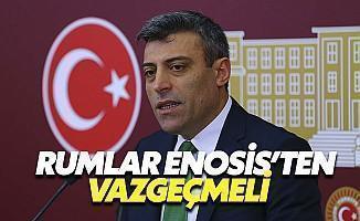 CHP'li Öztürk Yılmaz: Rumlar Enosis'ten Vazgeçmeli