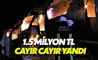 Bursa'da Korkutan Gece: 6 Otobüs Kül Oldu
