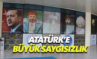 Yurttaki Panodan 'Atatürk Fotoğrafı' İndirildi